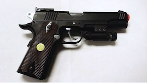 US: Maine man aims fake gun with laser pointer at cars