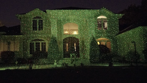 Star Shower Laser Projector On A Home