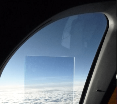 metaAIR film on aircraft window